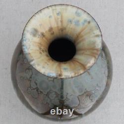 Vintage Bill Campbell Crystalline Blue Green Drip Glaze Studio Pottery Vase 9½