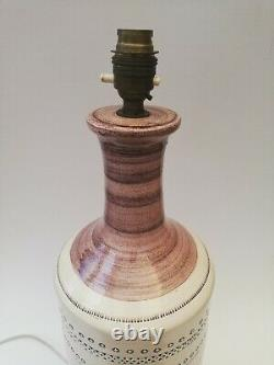 Vintage Bitossi Italian Mid Century Large Studio Pottery Table Lamp Base 51cm