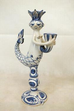 Vintage Bjorn Wiinblad Studio Figural Mermaid Candle Sticks PAIR Modern Design