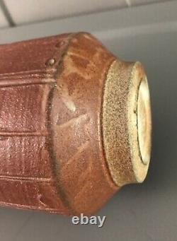 Vintage Brian Van Nostrand Signed Studio Art Pottery Vase 12H VGC