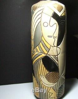 Vintage CA Studio Art Pottery Abstract Expressionist Modernist Ceramic Vase