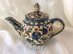 Vintage Ceramic Armenian Pottery Teapot, Jerusalem, Balian Studio