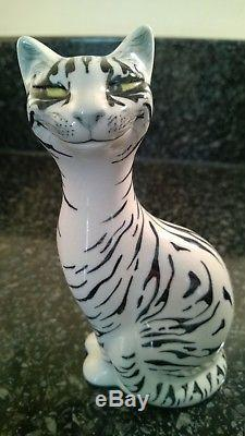 Vintage Christina Gray Cheshire Cat Pottery Figure Chester Studios Signed 1960's