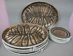 Vintage Cinque Ports Studio Pottery The Monastery Rye DINNER SERVICE SET. Plates