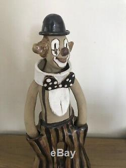 Vintage Clown Handmade By Elizabeth Haslam 1970's