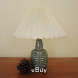 Vintage Danish Art Pottery Lamp Einar Johansen Own Studio Sage Green