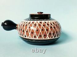 Vintage Danish MID Century Hak Studio Pottery Herman A. Kahler Marked Teapot