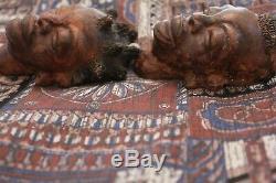 Vintage Dated 1930s Pottery Folk Art Studio Black Americana Ethnic Tribal Face