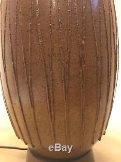 Vintage David Cressey Studio Art Pottery Table Lamp / California Modern