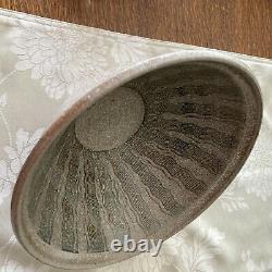 Vintage Don Jennings Studio Pottery 10 X 5, Incised Interior, Stoneware