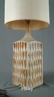 Vintage Drip Glaze Ceramic Lamp MID Century Danish Modern Studio Pottery Light