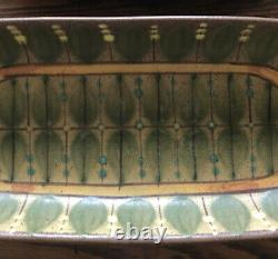 Vintage Dybdahl Denmark 60s Danish Studio Pottery Dish Serving Tray Set (2) MCM