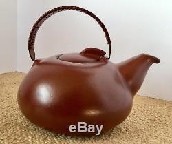 Vintage Early Edith Heath Sausalito Studio Pottery Brown Ceramic TEAPOT Rare