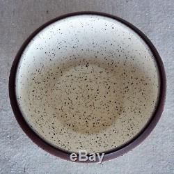 Vintage Early Edith Heath Sausalito Studio Pottery White Speckled Ceramic Bowl