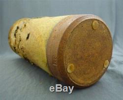 Vintage Ed Drahanchuk Canadian Studio Art Pottery Tall Cylindrical Vase Pot