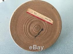 Vintage Edna Arnow Studio Pottery Abstract Chicago Mid Century 7.5h 6.5 Base
