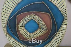 Vintage Eduardo Cuenca Ecuador Studio Art Pottery Abstract Wall Art Mid Century