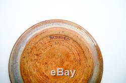Vintage Edwin Mary Scheier Vintage Studio Pottery Dish Eskimo