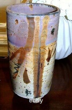 Vintage Elmer Taylor Studio Pottery Vase Handmade Stoneware, Marked/Signed