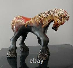 Vintage Eric Leaper Studio Pottery Newlyn large horse pony