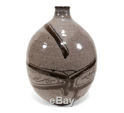 Vintage Ernie Kim California Studio Art Pottery Vase Abstract Decoration Listed