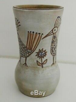 Vintage French Studio pottery vase by Sculptor & Ceramist Olivier Pettit 1960's