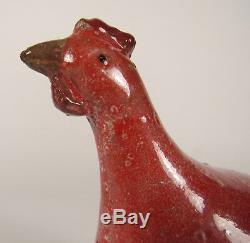Vintage GUINEA HEN Raymor Rosenthal Netter Italian Studio Ceramic Sculpture