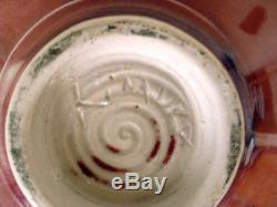 Vintage George Kimura Studio Art Pottery Ceramic Magenta Vase Signed