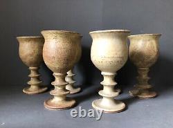 Vintage Goblet/chalice Set of 6 By Robert Tarling Kersey Studio Pottery