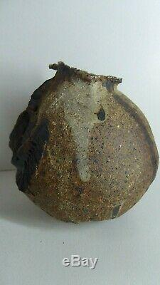 Vintage Gus Mclaren Vase Signed Australian Pottery Studio Artist Gallery Piece
