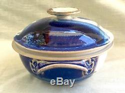 Vintage Hand Thrown Studio Art Pottery Vegetable/Rice Steamer by Walt Glass