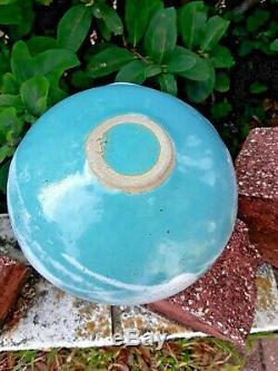 Vintage Hand Thrown Studio Pottery Moon Vase Weed Pot Artist Signed