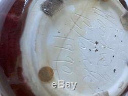 Vintage Harding Black Studio Pottery 10 Bowl 1991 -Celadon Crackle Heavy Glaze