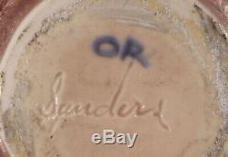 Vintage Herbert Sanders California Studio Art Pottery Weed Pot Vase Crystalline
