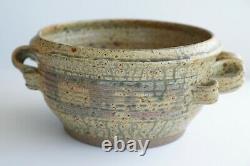 Vintage Huge Studio Pottery Planter Artist Signed 70's