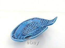 Vintage IrishTurquoise Bird Dish JFF John Ffrench Arklow Studio Pottery Ireland