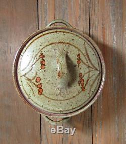 Vintage JANE HEALD (1916 -1991) studio pottery casserole CA mcm free US ship