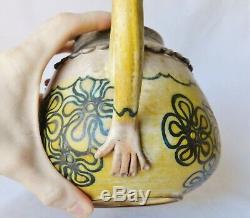 Vintage JANE WHERETTE Studio Art Pottery Face Teapot & Creamer