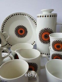 Vintage J&G Meakin Studio Inca Full Coffee AND Tea Set