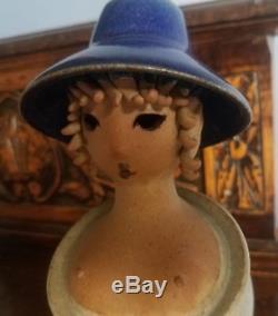 Vintage Jacob Bang Studio Figural Vase Art Pottery Sculpture
