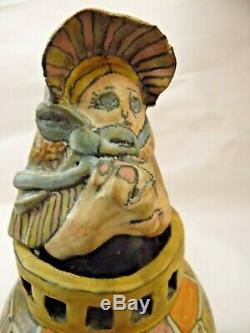 Vintage Jane Peiser Studio Pottery NC Figural Whimsical Bell ex cond 6.5