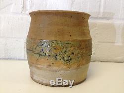 Vintage Jane Reuter Hitzeman Signed Studio Pottery Barrel Form Vase