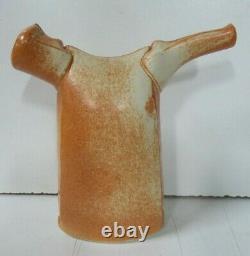 Vintage Japanese Sculptural Jug Pot MID Century Pottery Studio Artist