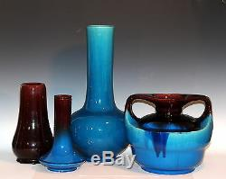 Vintage Japanese Studio Pottery Crystalline Ikebana Zen Bud Bottle Signed Vase
