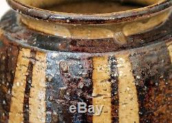 Vintage Japanese Studio Pottery Hamada Leach Ikebana Signed Seal Marked Vase
