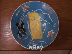Vintage Jean-Paul Landreau Studio Pottery Bowl Signed 25cm Width