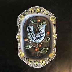 Vintage John Ffrench Arklow Studio Pottery Modern Bird Wall Plaque