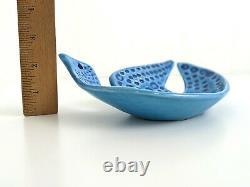 Vintage John Ffrench JFF Bird Turquoise Dish Bowl Arklow Studio Pottery Ireland