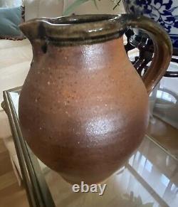 Vintage John Leachs Muchelney studio pottery Pitcher Handle Personal Mark 1994