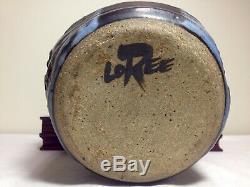 Vintage John Loree Studio Pottery Vase Mid Century Modern Rare Example